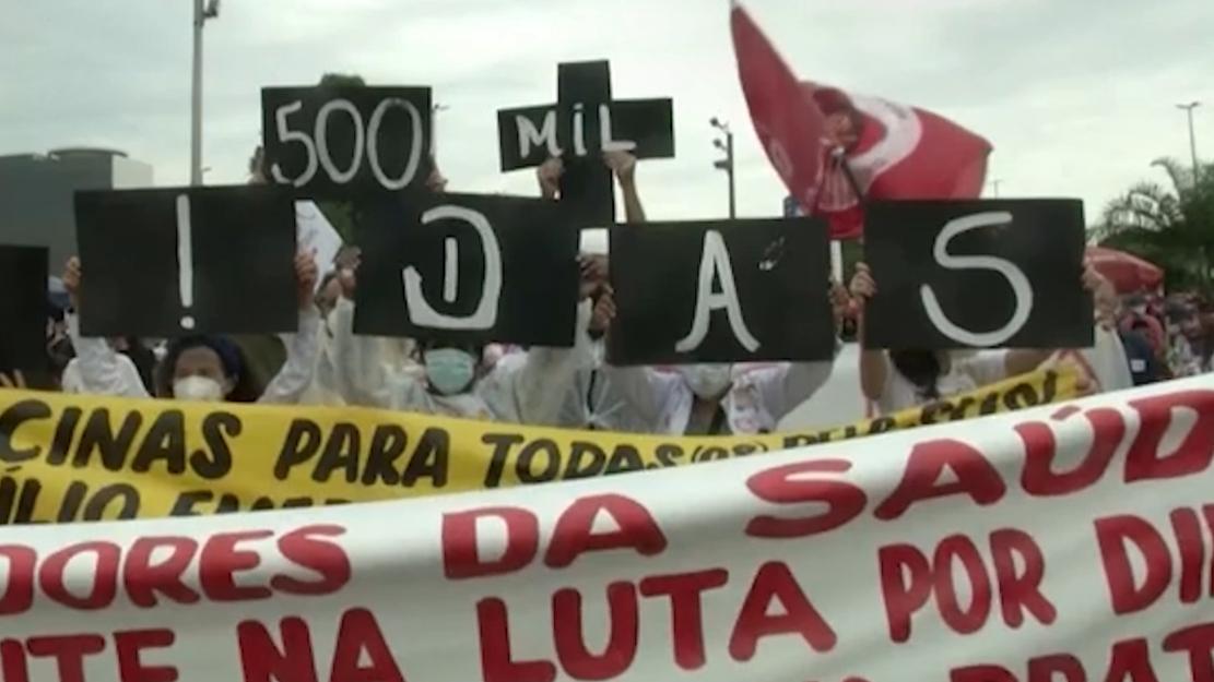 Brazil hits 500,000 coronavirus deaths