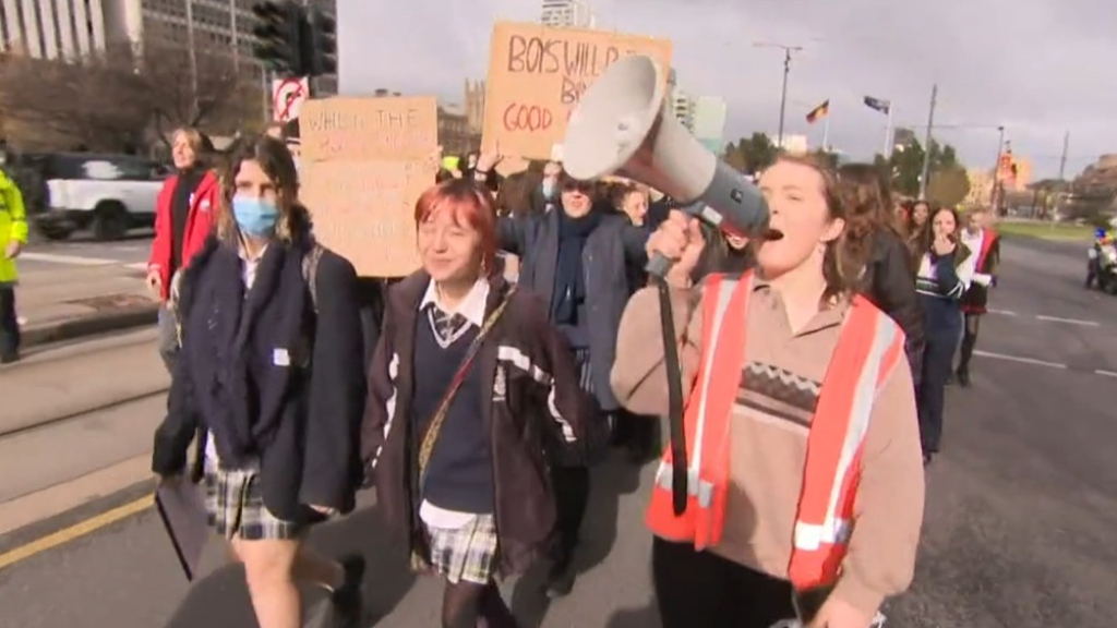 Over 200 students gather at Victoria Square to protest sexual violence in schools