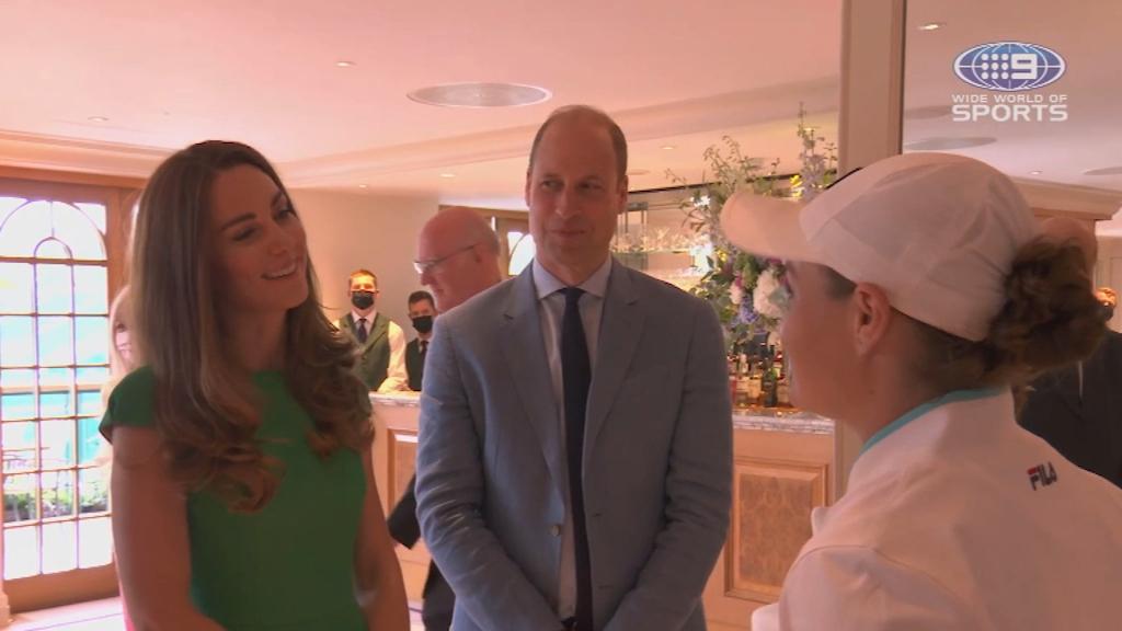 Ash Barty's exclusive royal meeting following Wimbledon win