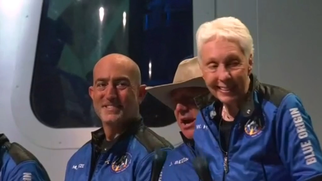 Jeff Bezos successfully returns from maiden space voyage