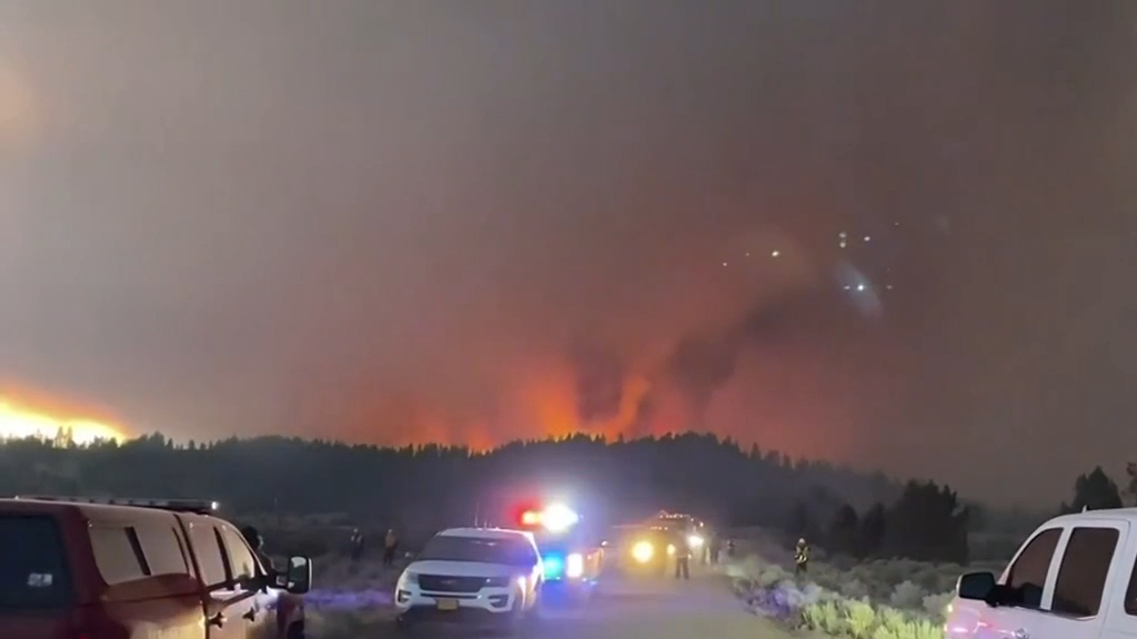 Wildfires in Oregon have now grown to the size of Los Angeles