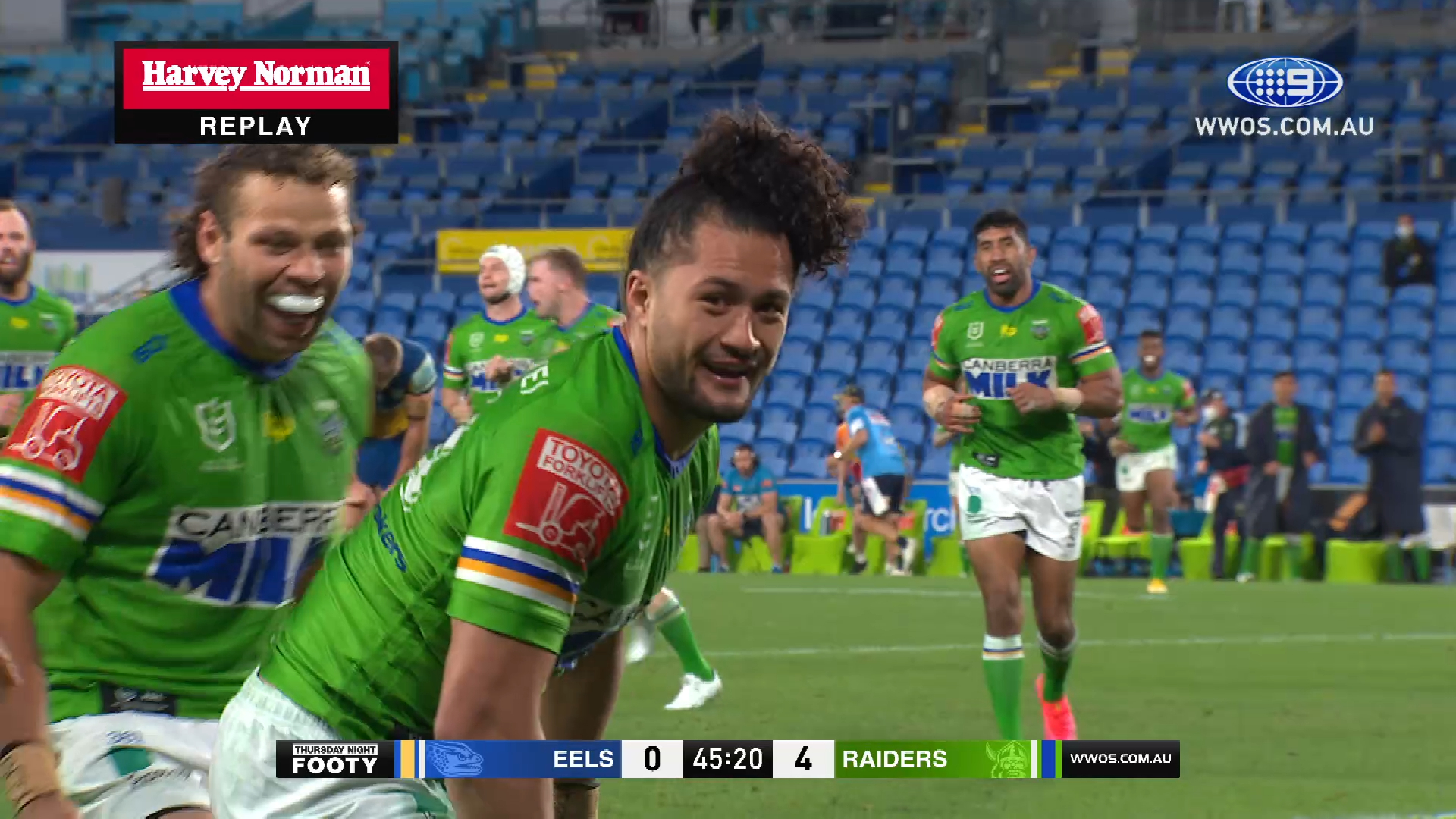 NRL Highlights: The Raiders beat the Eels in a defensive showdown - Round 19