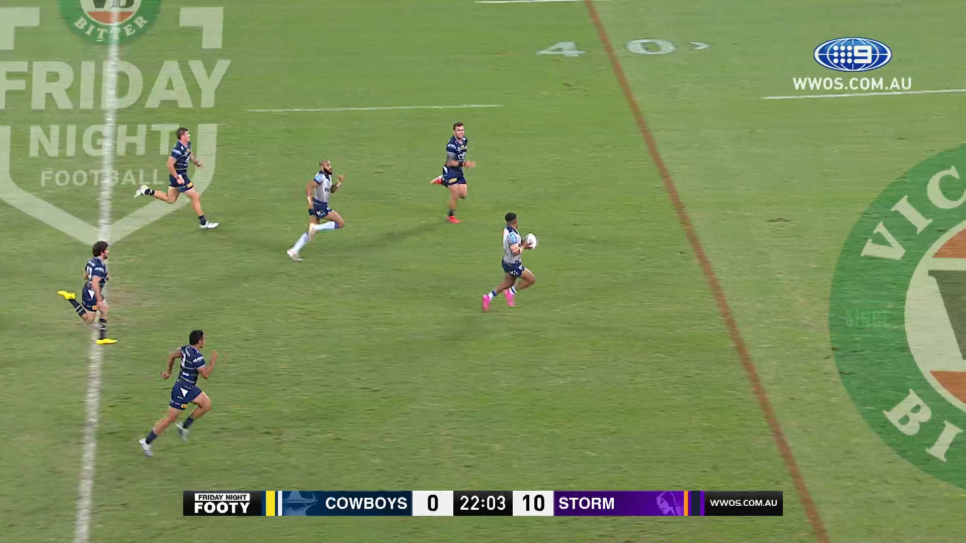 NRL Highlights: The Storm hang on against a gutsy Cowboys outfit - Round 18