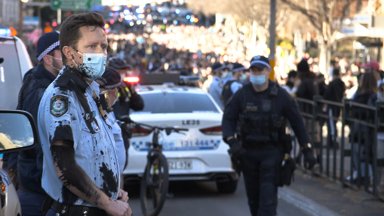 NSW police clash with protesters