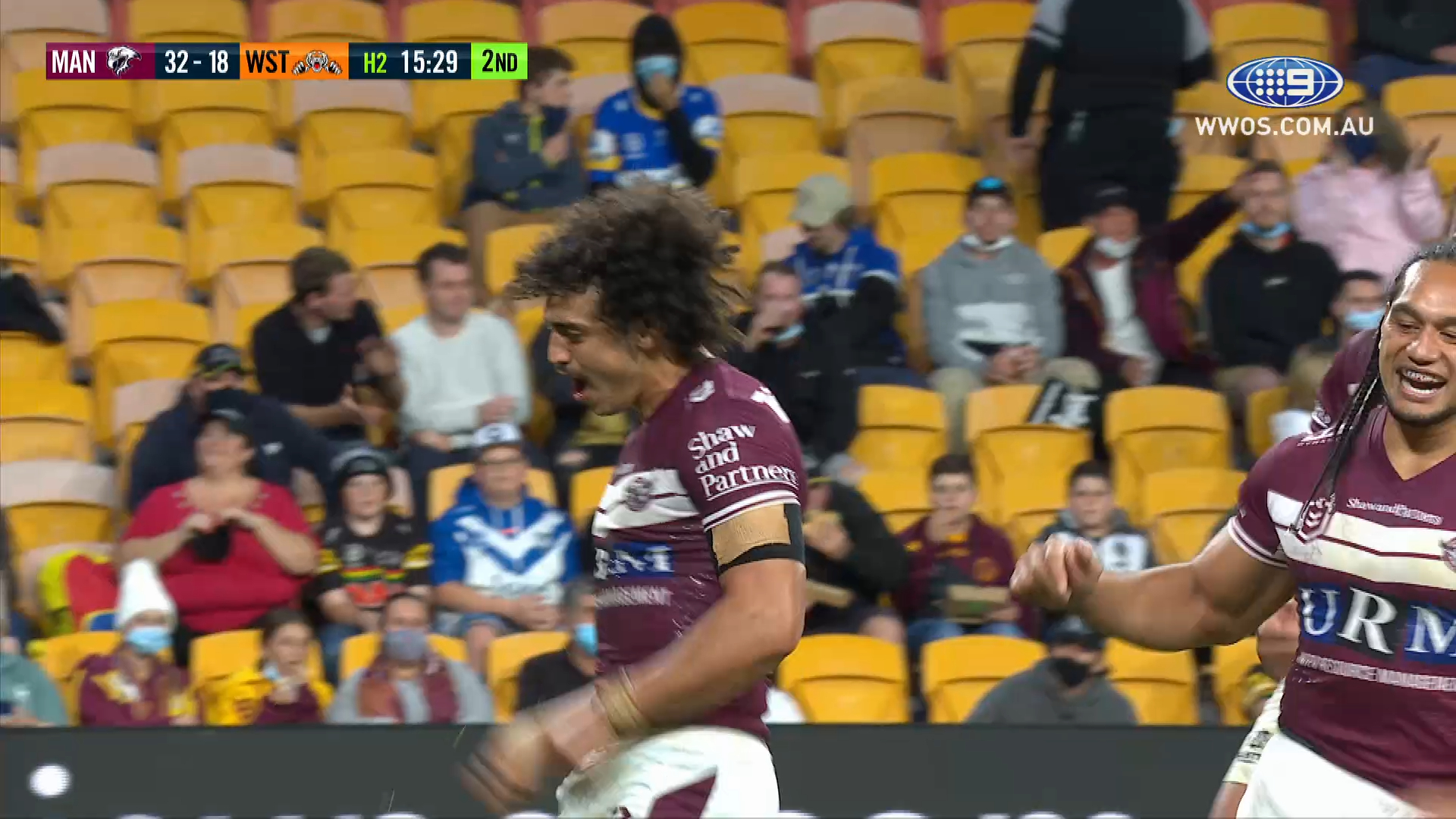 NRL Highlights: Manly power past the Tigers in a try-fest - Round 19