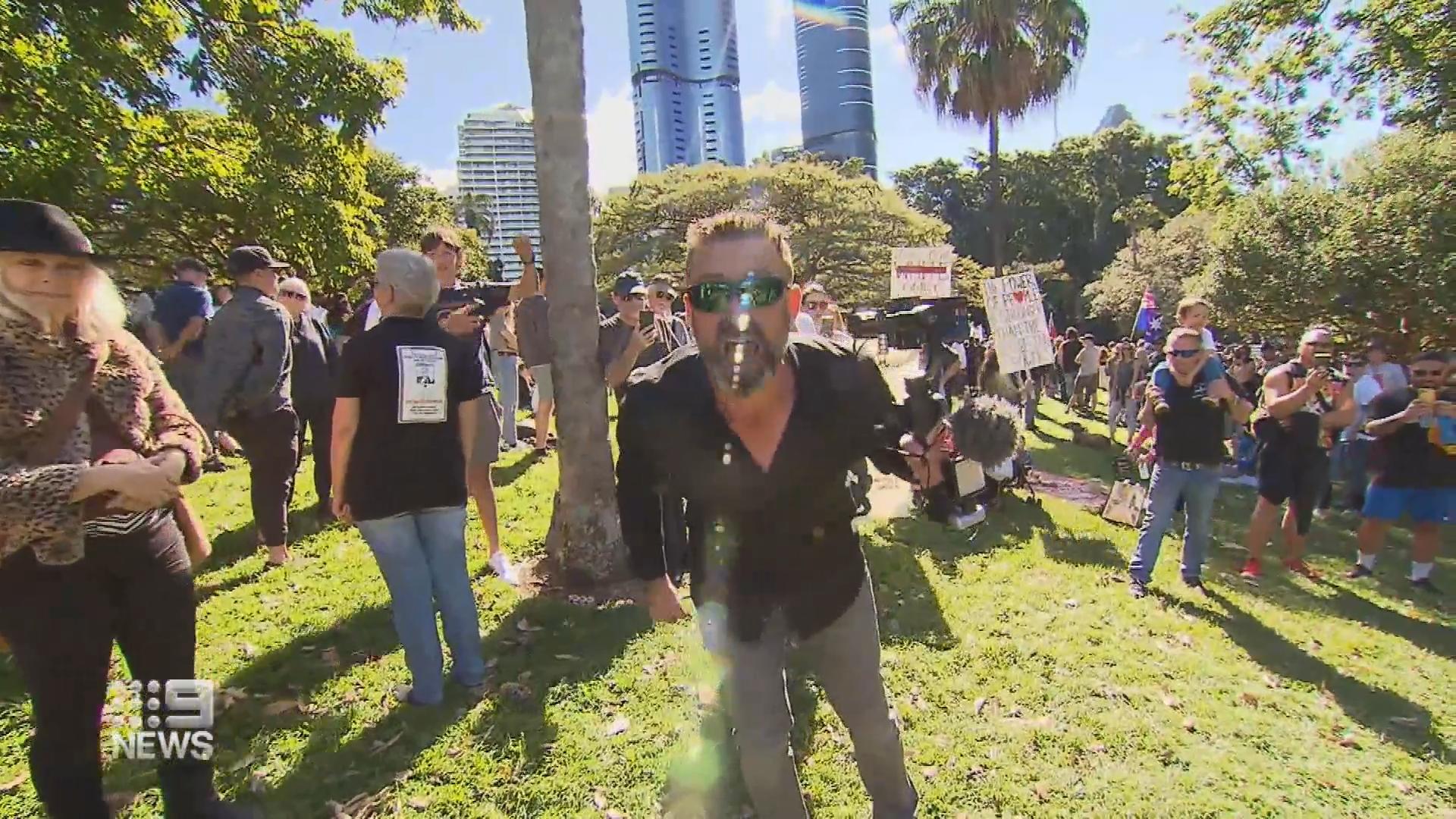 Anti-lockdown protesters storm Brisbane