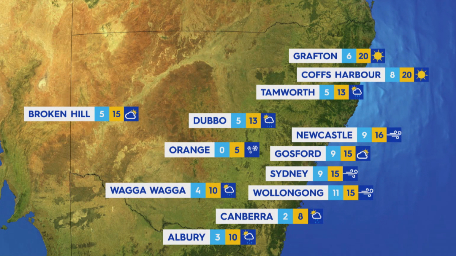 National weather forecast for Sunday, July 25