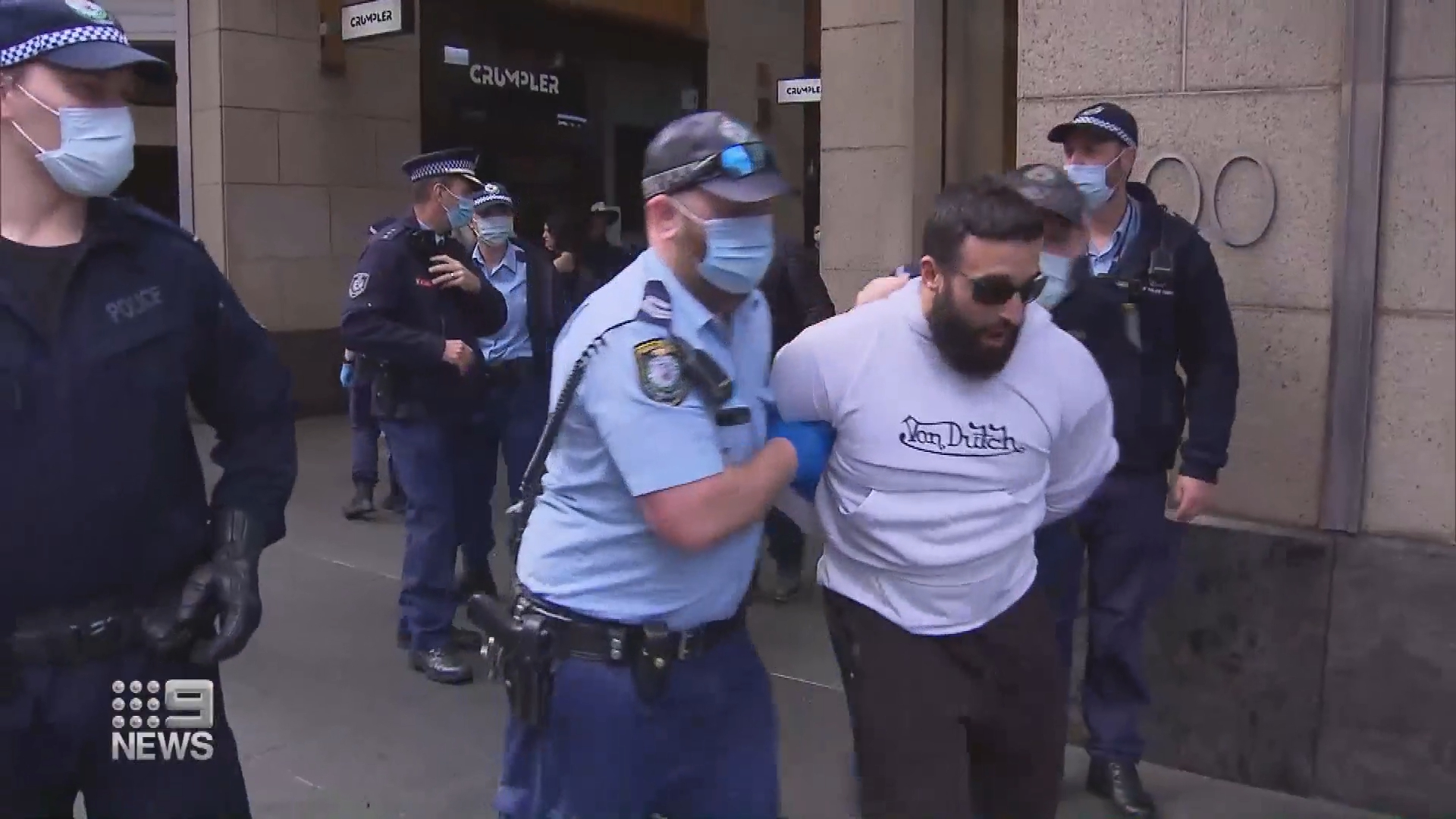 Anti-lockdown protesters charged