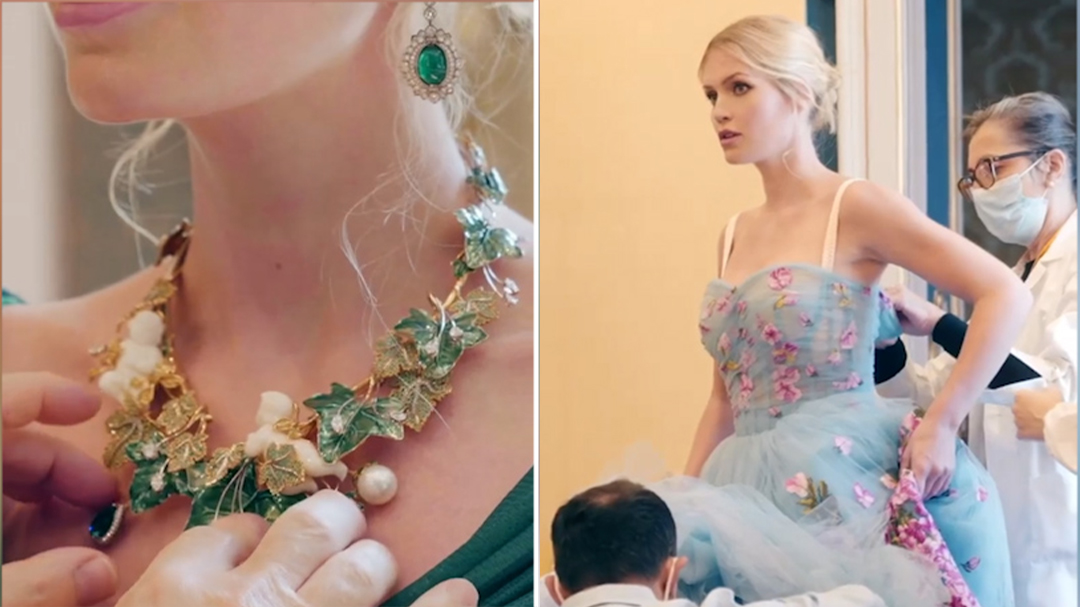 Dolce&Gabbana share the story behind the design Lady Kitty Spencer's wedding gown