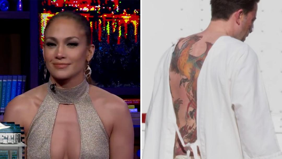 Jennifer Lopez calls Ben Affleck's back tattoo 'awful'