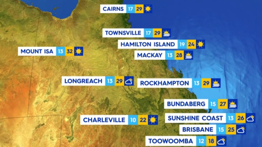 National weather forecast for Thursday July 29