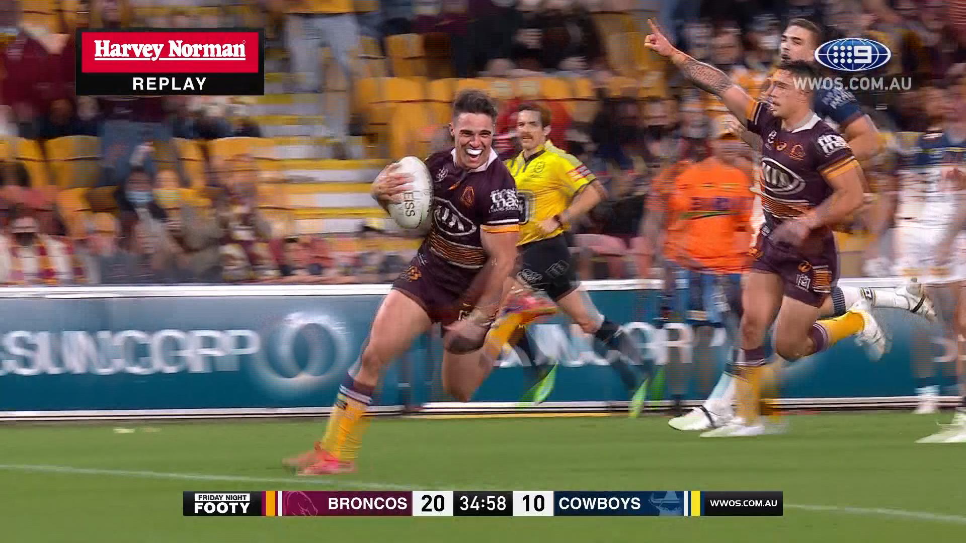 NRL Highlights: Broncos win thrilling Queensland derby - Round 20