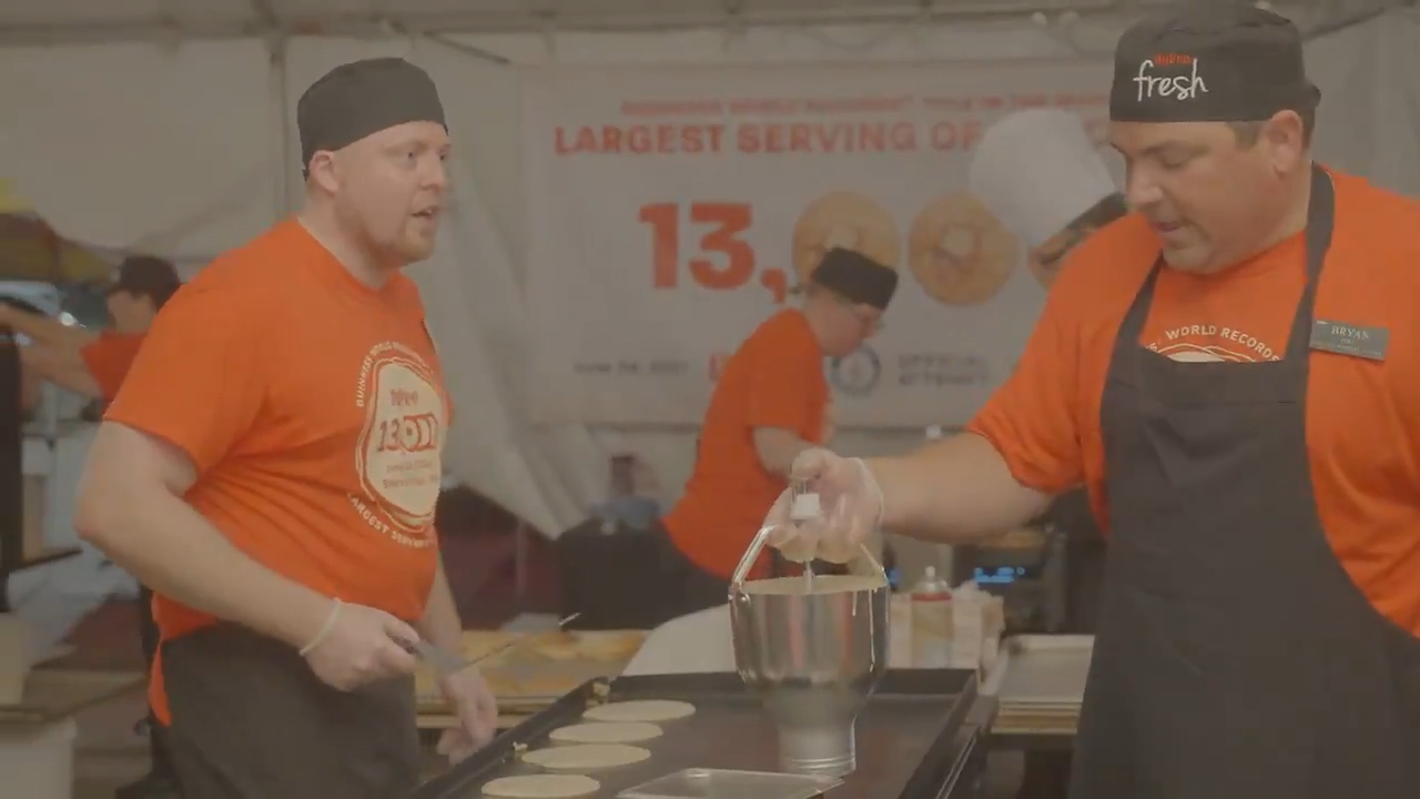 Supermarket chain break Guiness World Record for largest serving of pancakes ever