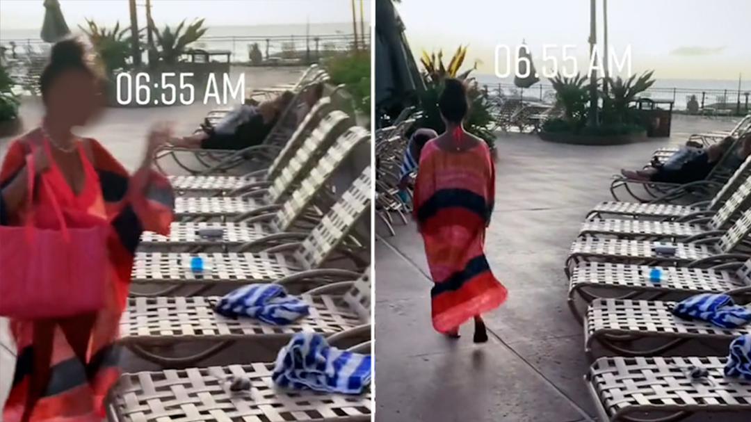 Selfish sunbather sparks outrage on social media
