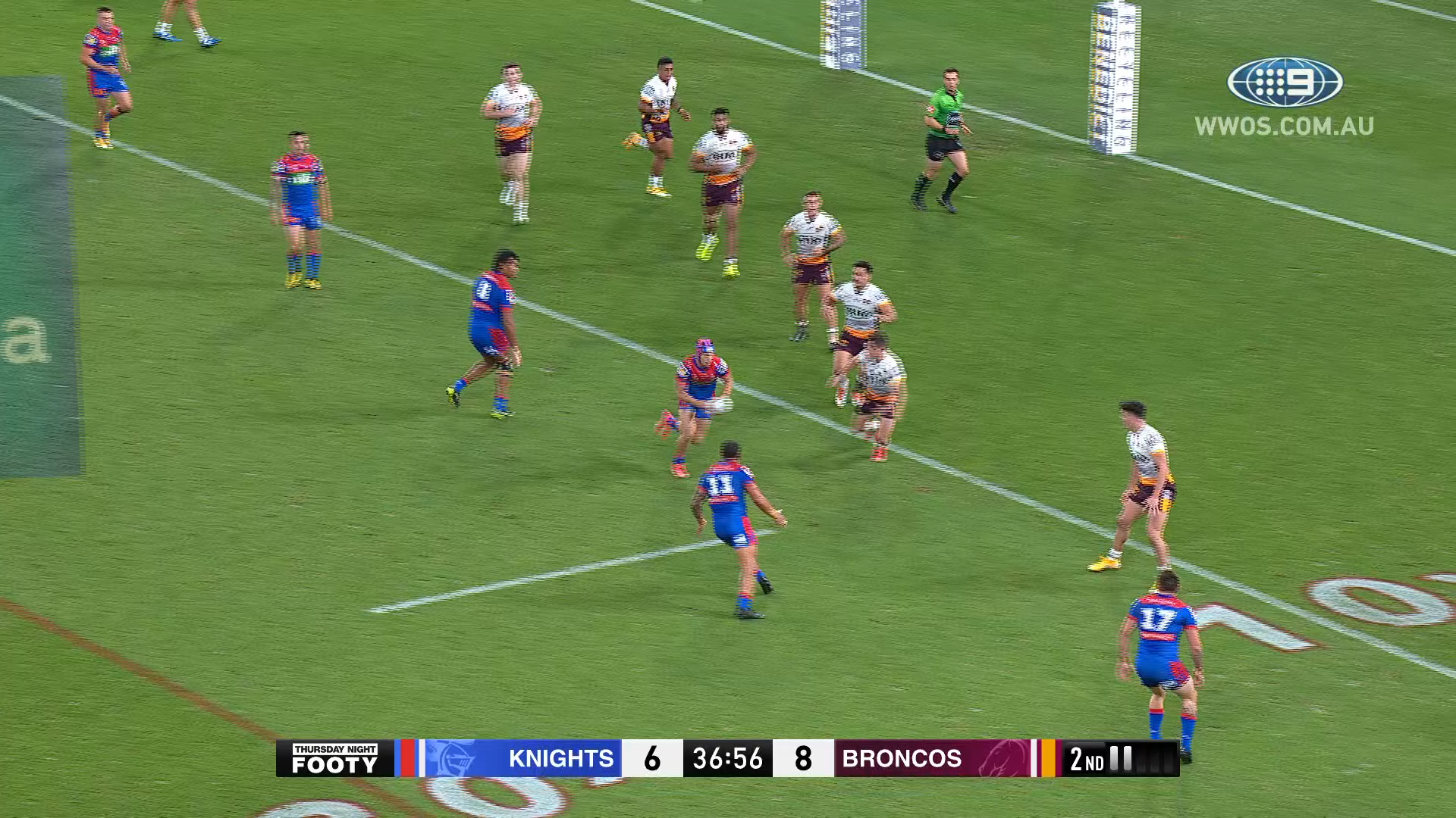 NRL Highlights: Knights hold off a late surge by the Broncos to get the win - Round 21