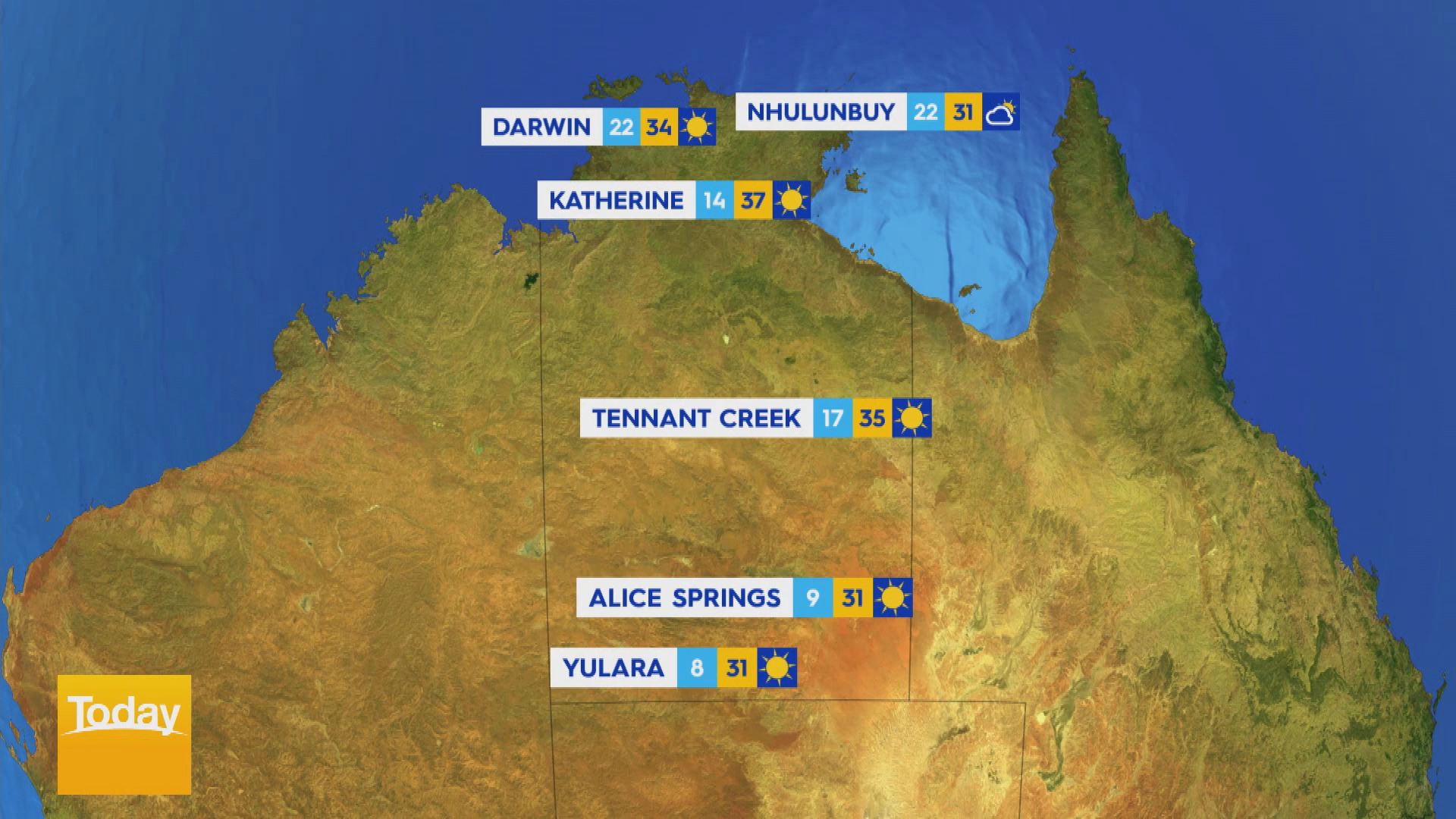 National Weather forecast for Tuesday August 31