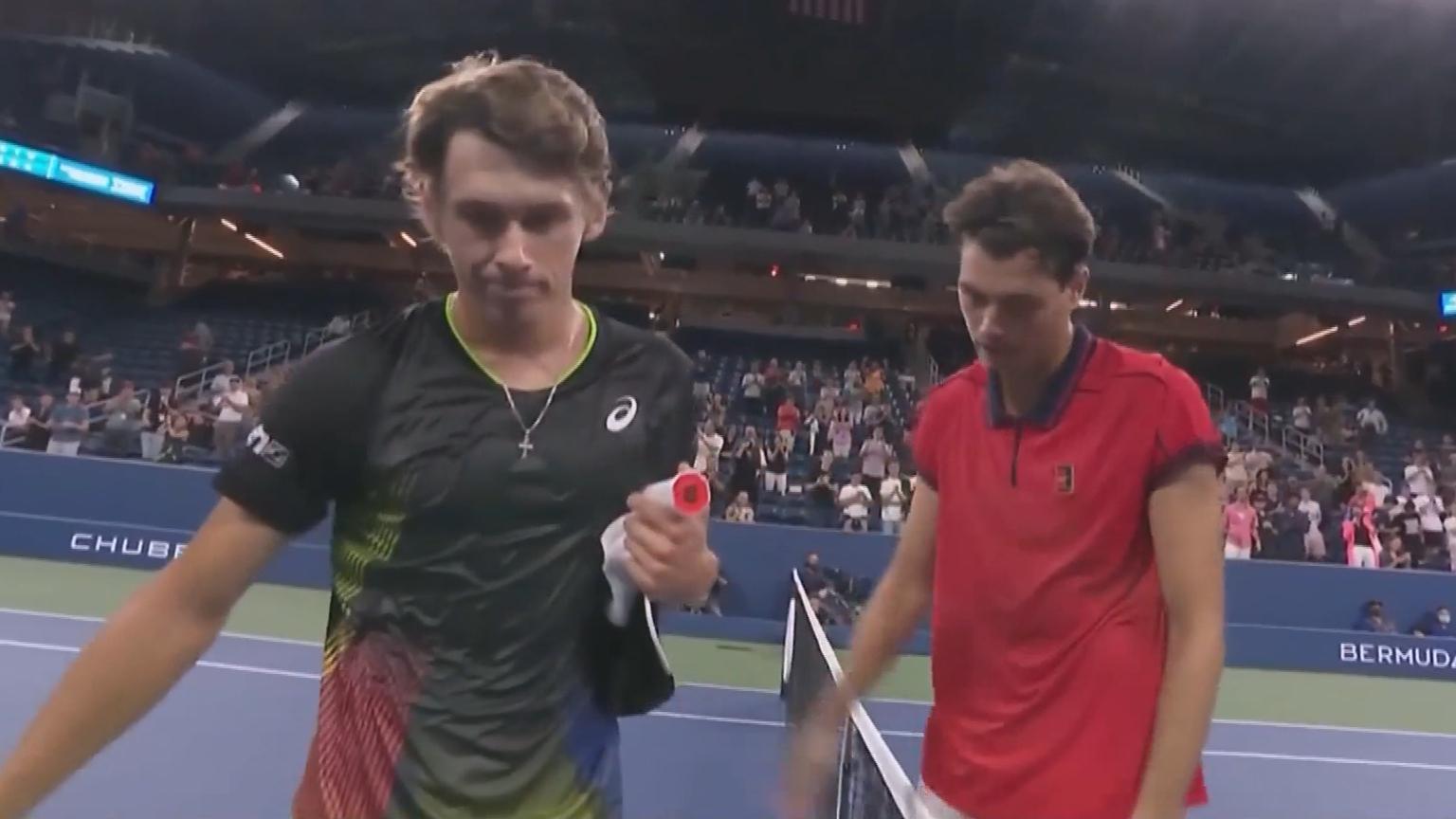 de Minaur crashes out of US Open