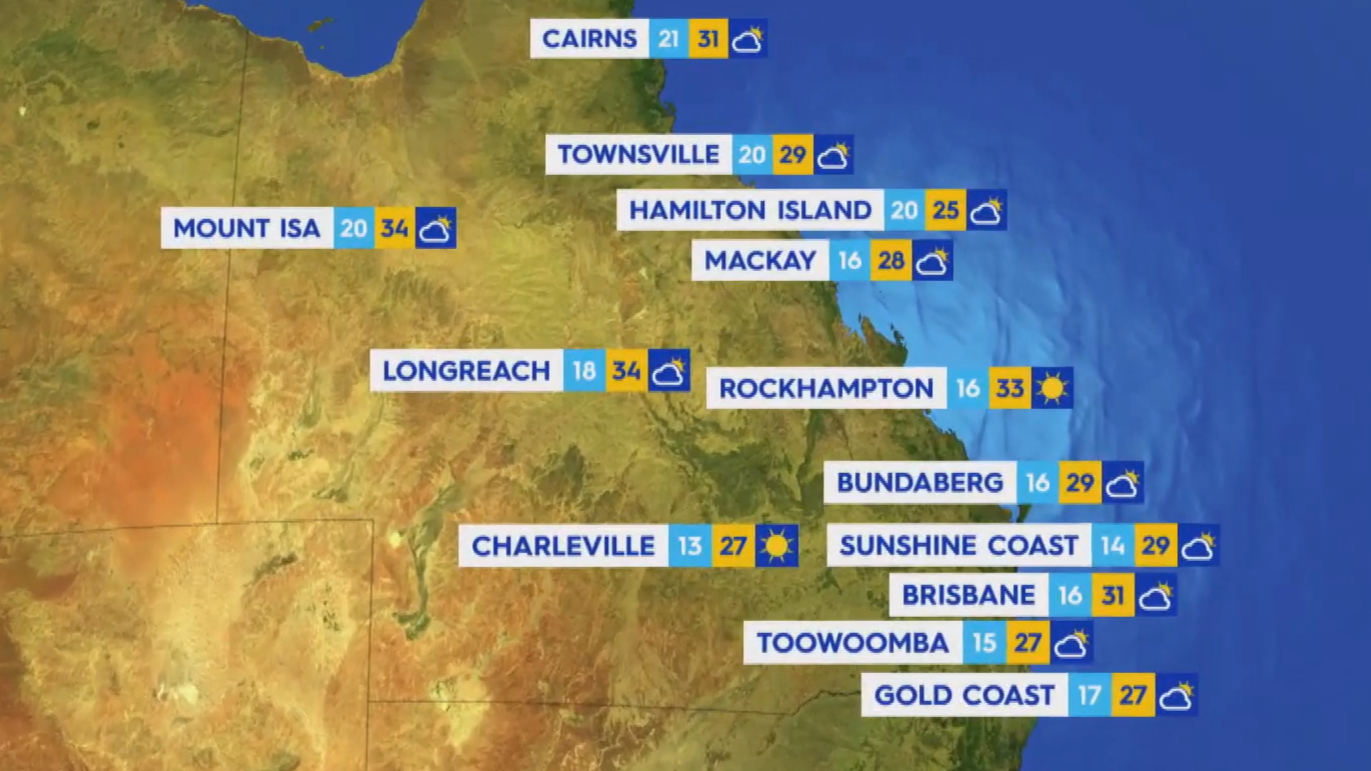 National Weather forecast for Monday September 13