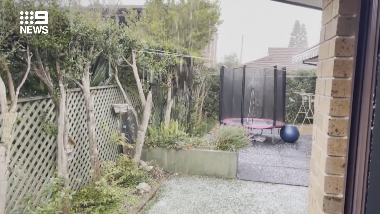 Hail on Sydney's northern beaches