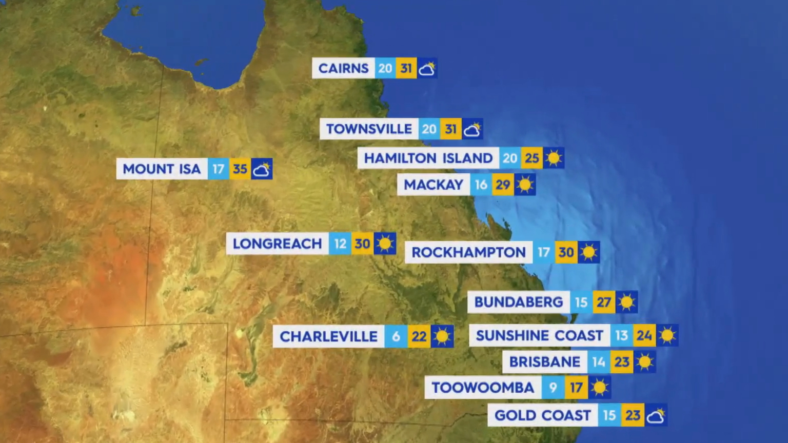 National Weather forecast for Tuesday September 14