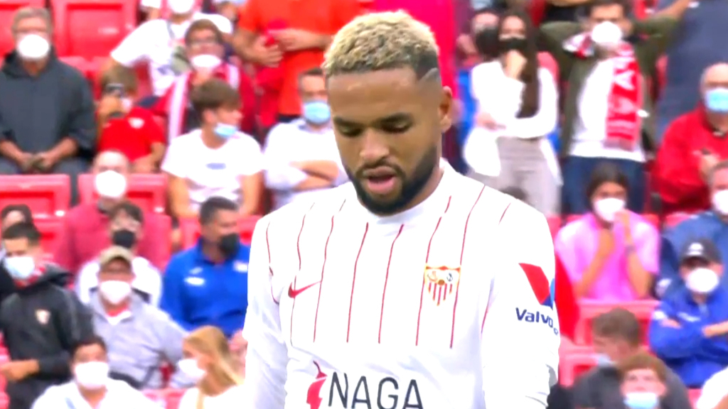 Sevilla star red carded for diving