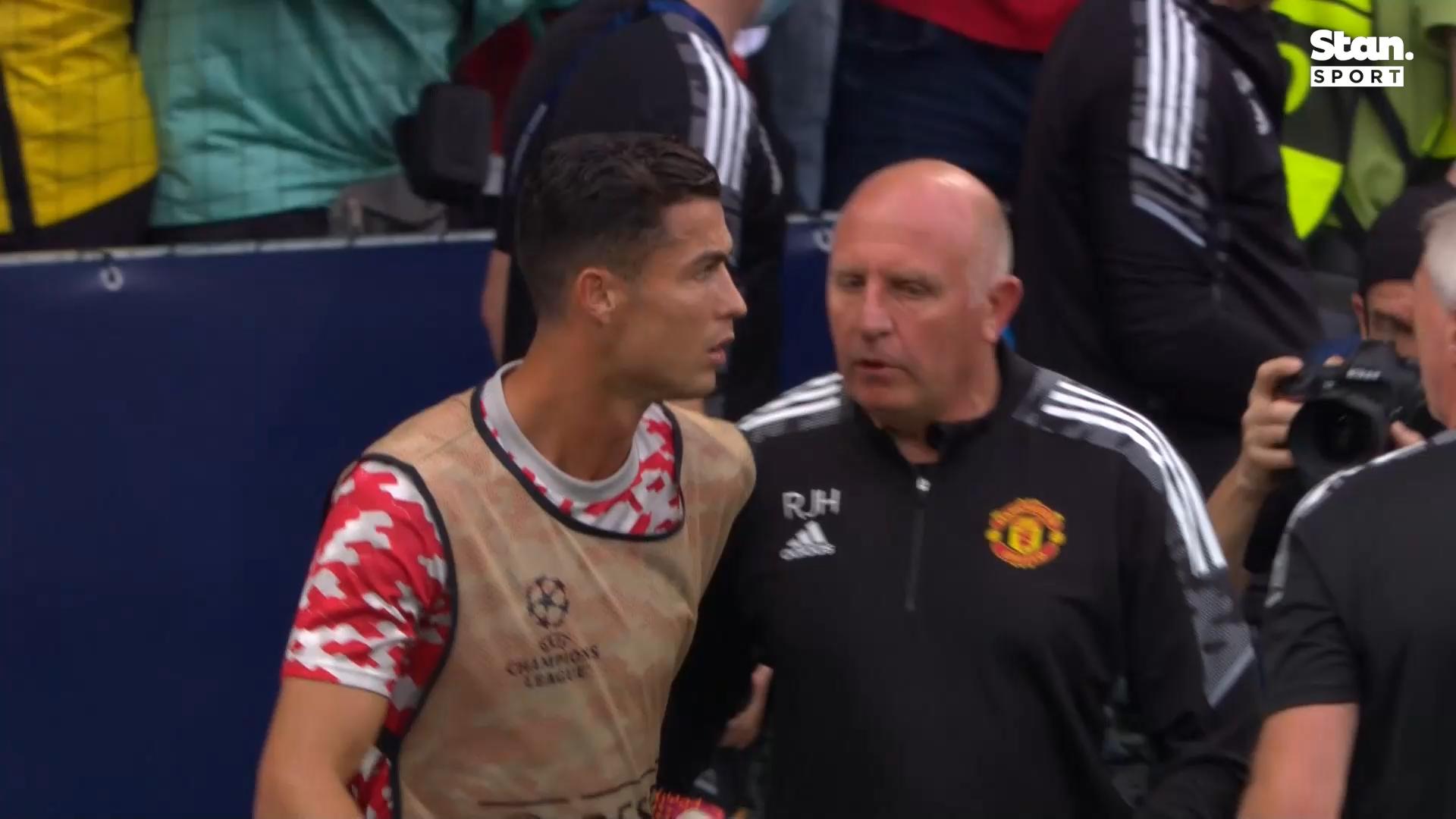 Ronaldo's classy gesture after hitting steward