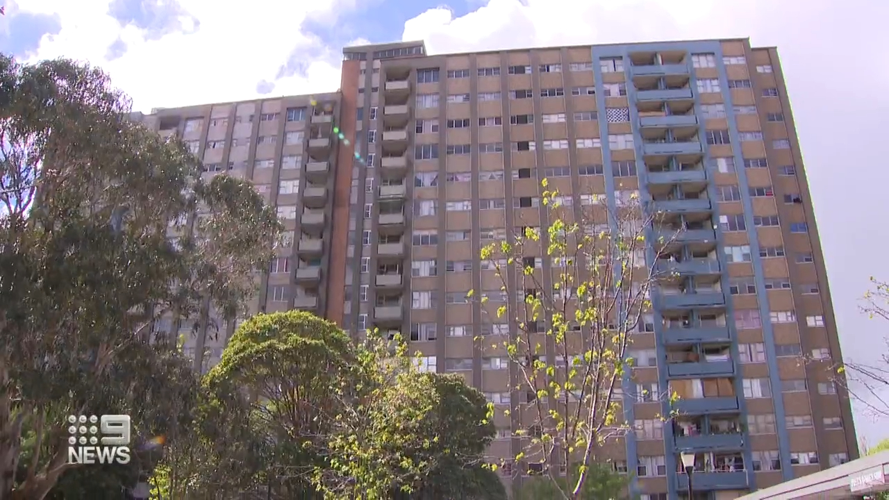 Outbreak in housing block in Sydney's Inner City.