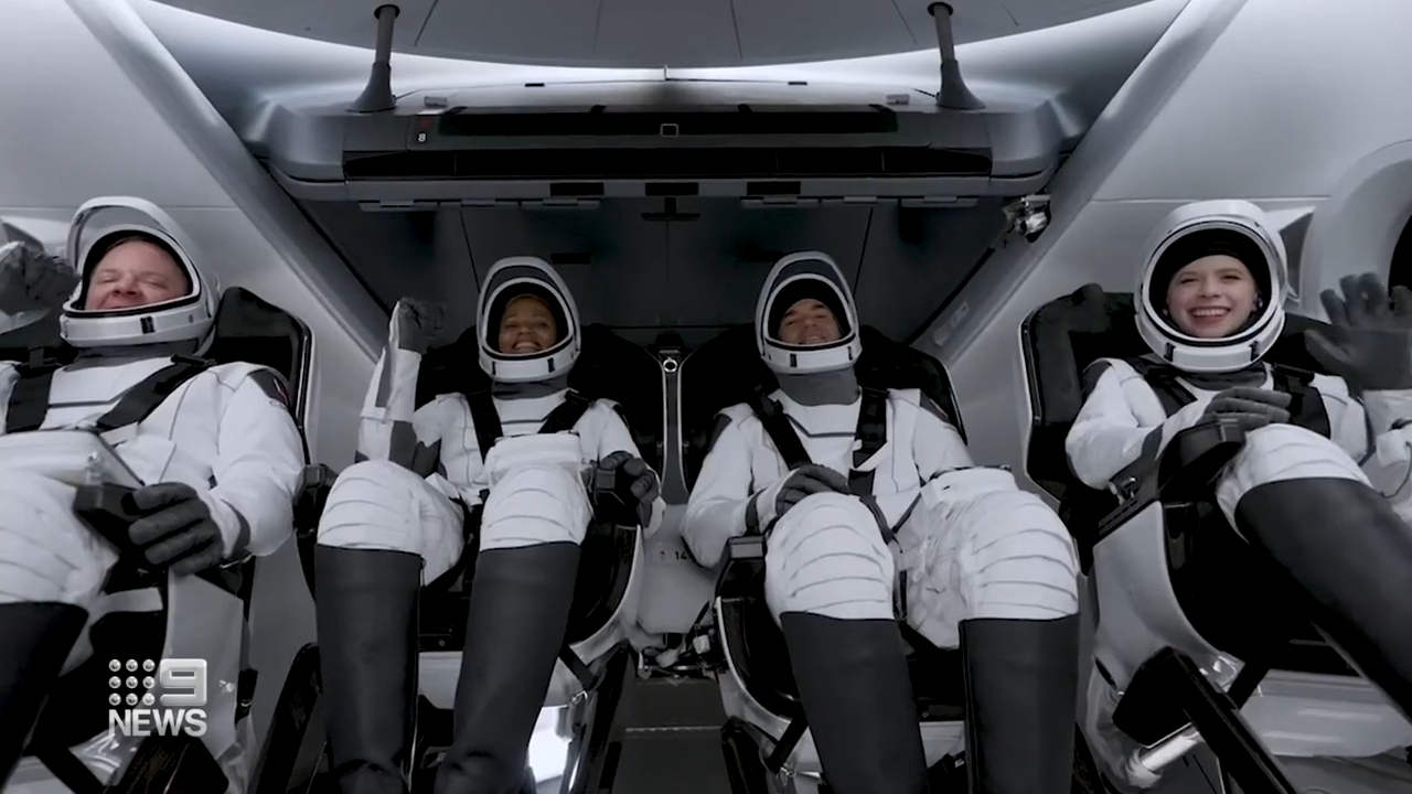 SpaceX launches civilians into space