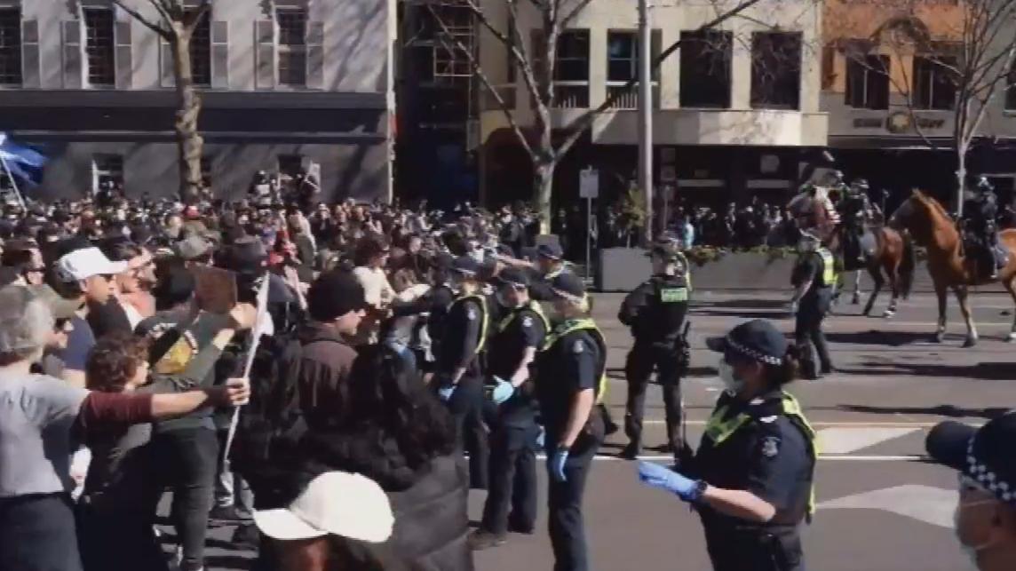 Police to shut down Melbourne CBD ahead of lockdown rally
