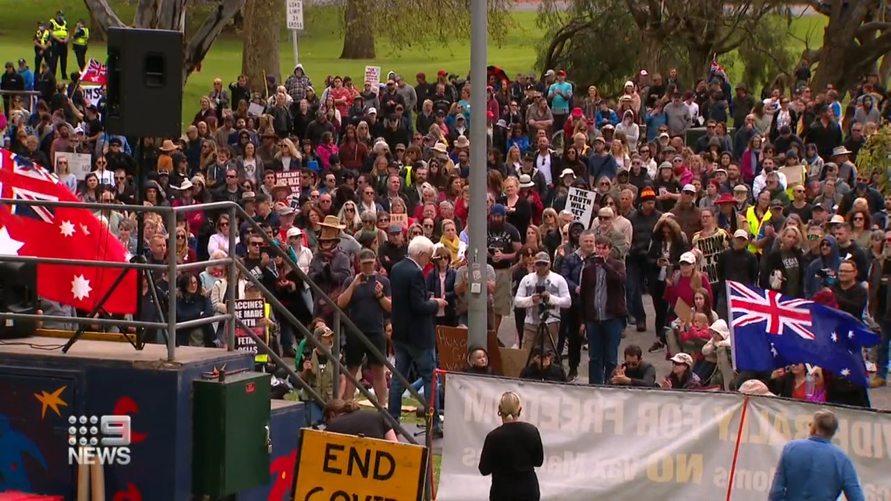 Protesters gather in Adelaide