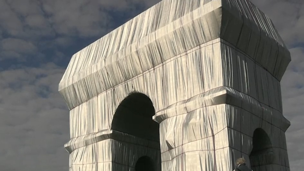 Paris' Arc de Triomphe artistic installation resembles 'a big grey elephant'