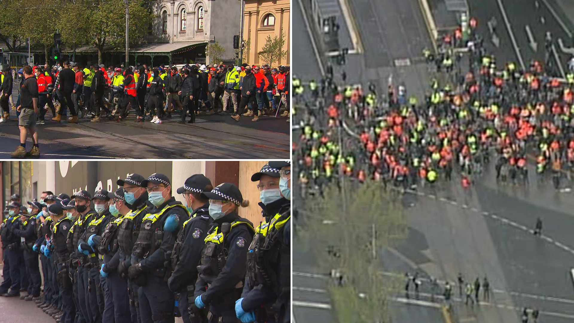 Construction workers protest in Melbourne for second day