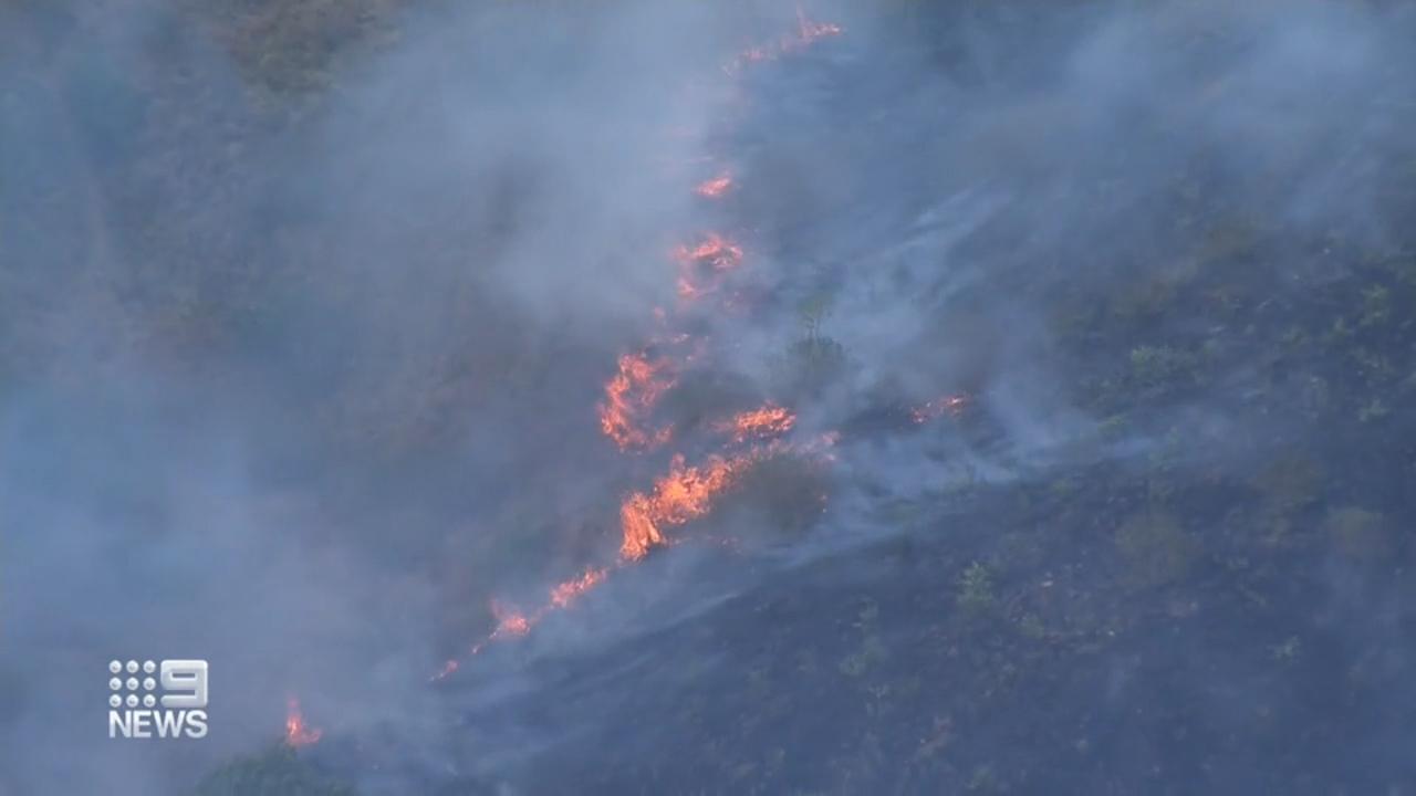 Bushfire burns in Queensland