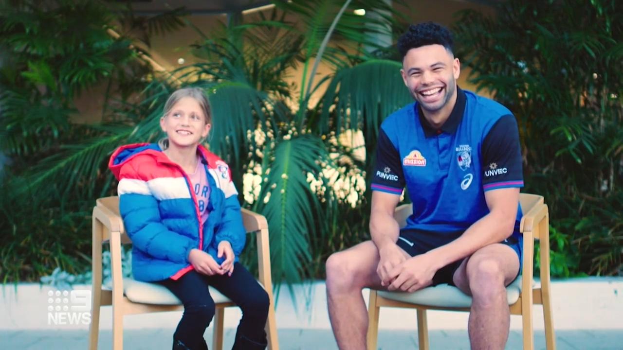 Nine-year-old Bulldogs fan's big surprise