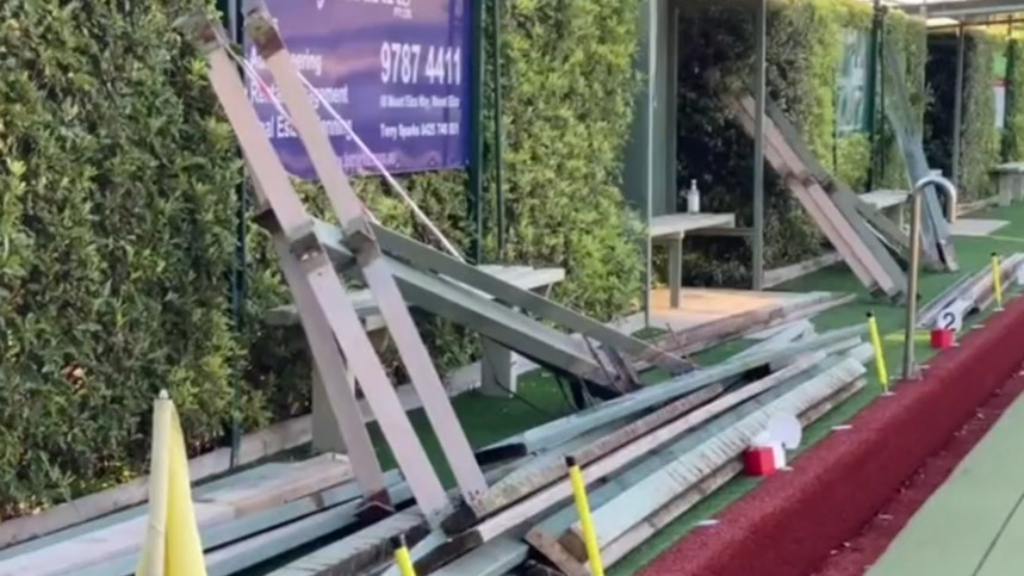 Man injured after structure collapsed during earthquake