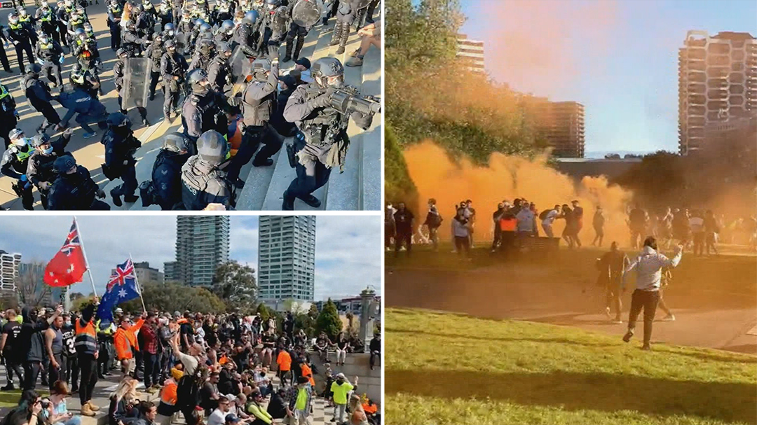 Concern violent Melbourne rally may have been a COVID-19 super-spreading event