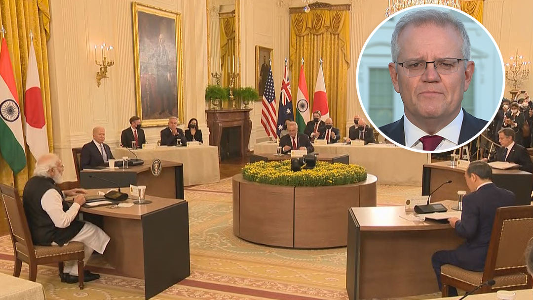 Scott Morrison speaks on historic meeting with Quad nations leaders
