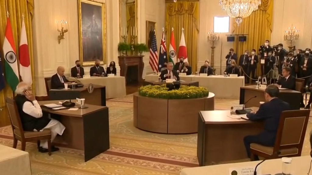 Historic meeting between Australia, US, Japan and India gets underway at the White House