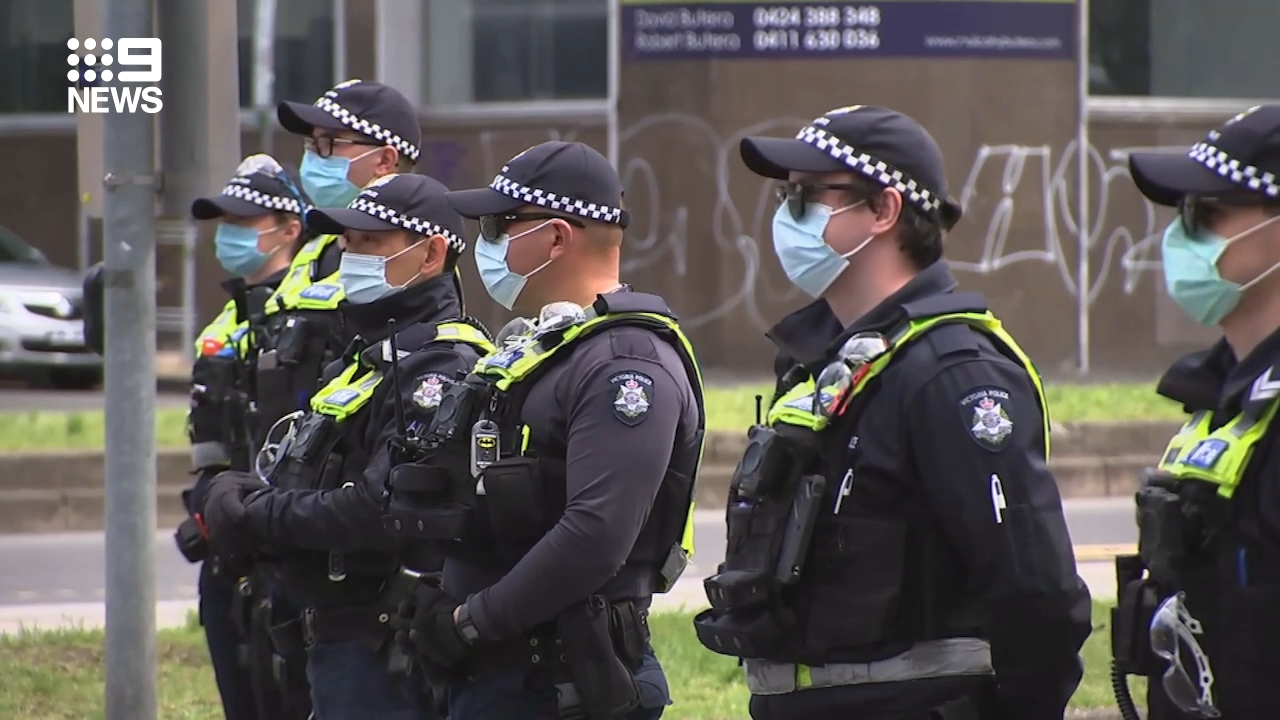 Police out in force as protest threat ramps up in Melbourne
