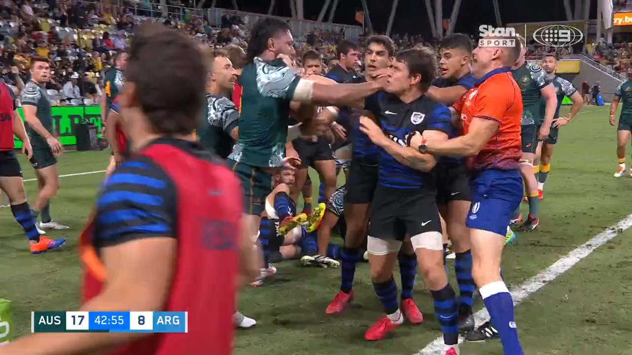 Pumas try sparks melee