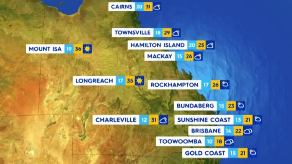 National Weather forecast for Monday September 27