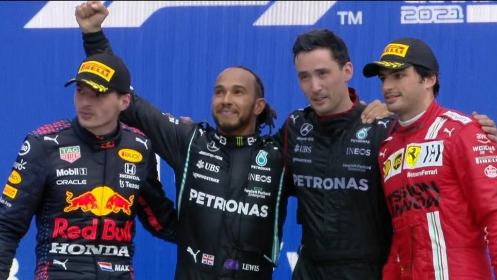 Hamilton wins historic 100th grand prix