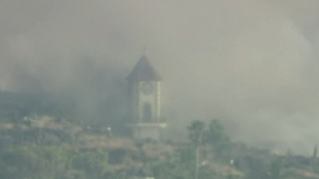 Church collapses under lava on Spanish island of La Palma