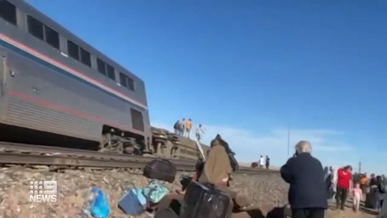 US train derailment kills three passengers