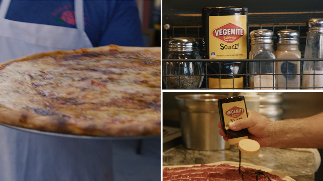 New York pizza chef shows correct way to use Vegemite: 'You're doing it all wrong'
