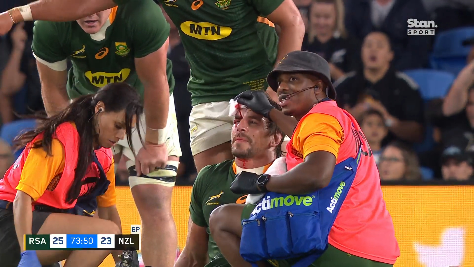 Tensions, blood spill over in epic Test