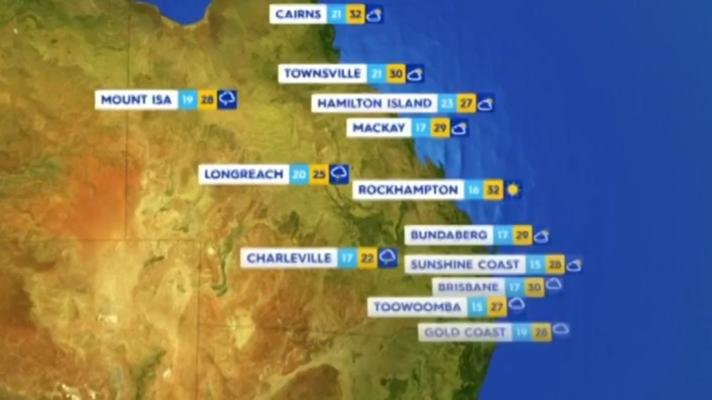 National Weather forecast for Monday October 11