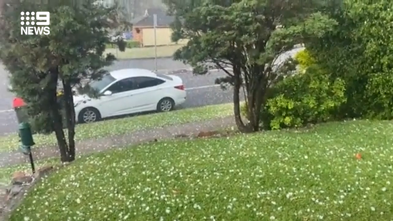 NSW hit with hail storms, damaging winds