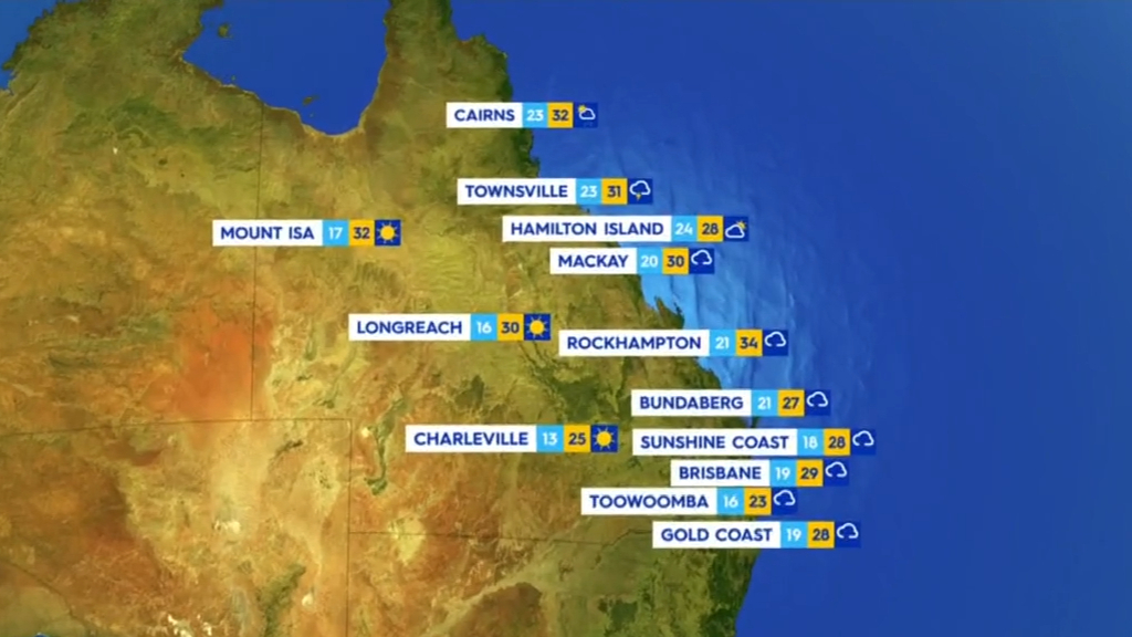 National Weather forecast for Friday October 15
