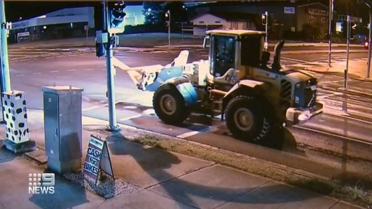 Stolen front end loader used on rampage across Ipswich